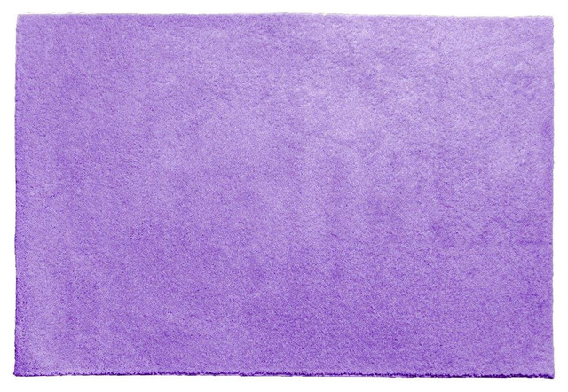Cool home our space collection solid color area rug for Purple area rugs contemporary