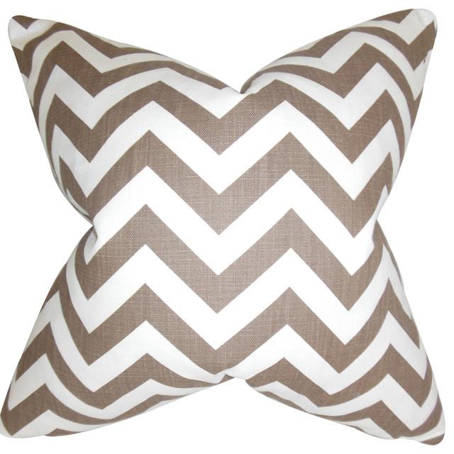 Throw Pillow Covers Home Kitchen The Pillow Collection Xayabury Zigzag Bedding Sham Maroon White King 20 X 36