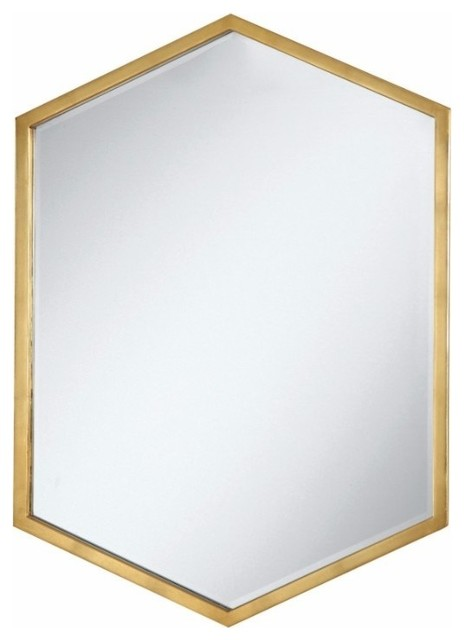 Metal Wall Mirror, Gold.
