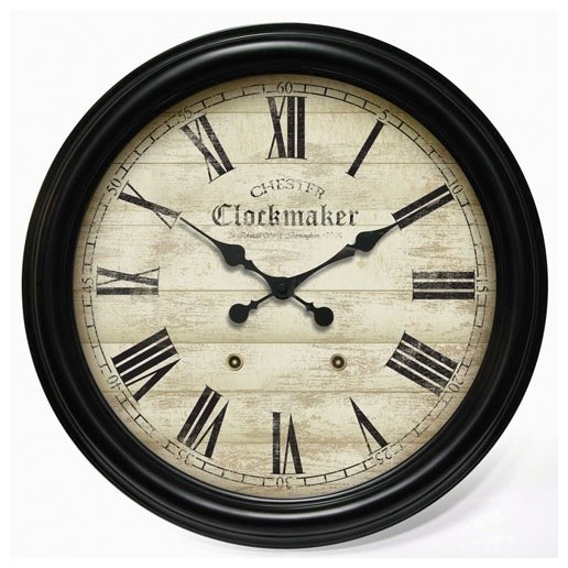 Large Metal Chester Clockmaker Gallery Wall Clock