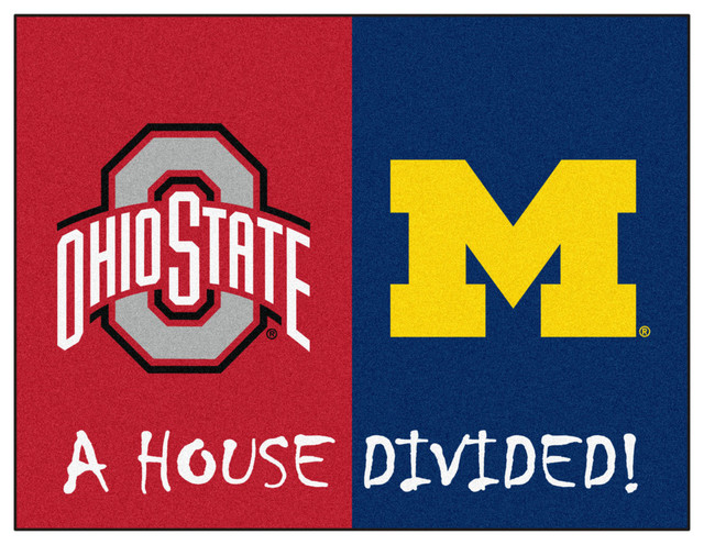 Ohio State Michigan House Divided Rugs 33 75 Quot X42 5