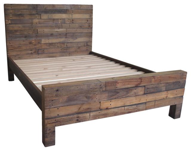 terra nova king bed rustic panel beds - Panel Bed Frame