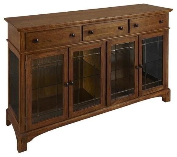 Mission Furniture In Transitional Design: A-America Laurelhurst Sideboard, Mission Oak