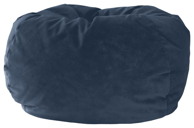 Marvelous Gold Medal Bean Bag Microsuede Corduroy Federal Blue Extra Large Inzonedesignstudio Interior Chair Design Inzonedesignstudiocom