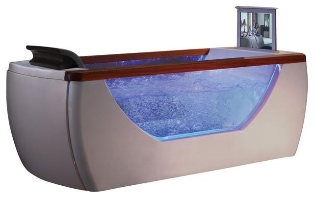 6u0027 Right Drain Rectangular Free Standing Air Bath Tub With Tv Screen  Bathtubs