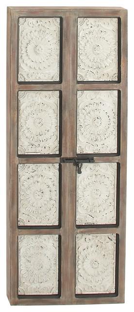"""Wood Metal Wall Panel, 27""""x66""""."""