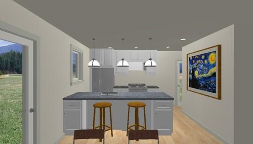 Kitchen Island Against Wall kitchen layout