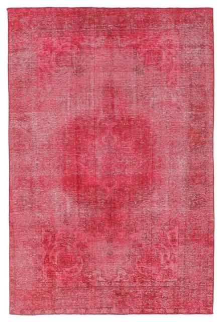 Vintage Royal Rug, Persian Carpet Hand-Knotted Modern, 281x189 cm