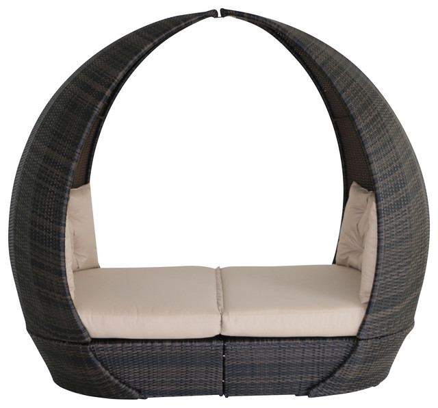 Tulip Outdoor Daybed, Brown