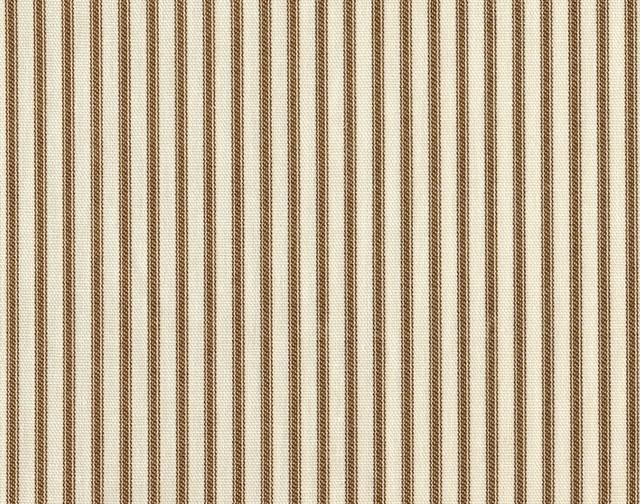 "15"" Queen Bedskirt Tailored Suede Brown Ticking Stripe"