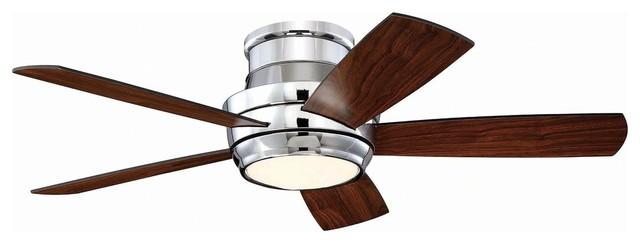 "Craftmade Tmph445 Tempo Hugger 44"" 5-Blade Ceiling Fan, Chrome."