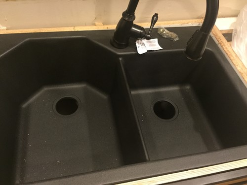 blanco composite granite or glacier bay from home depot - Glacier Bay Kitchen Sink