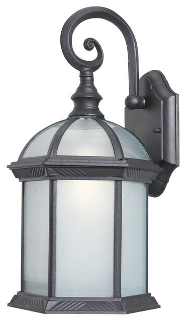 Energy Saving Glenwood Outdoor Sconce, Powder Coat Black.