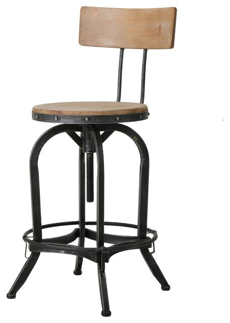 modern industrial design adjustable seat height bar counter stool