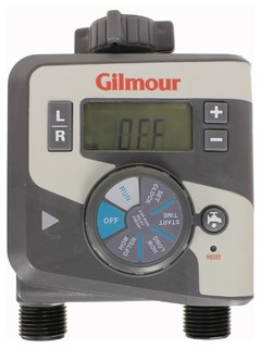 Gilmour 1-Dial Dual Outlet Hose Faucet Watering Timer - 400GTD - Traditional - Watering And ...