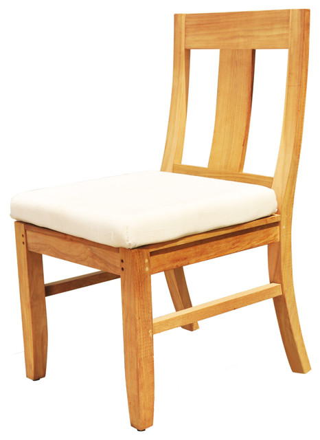 Osbo Armless Chair A Grade Teak Outdoor Patio Dining Transitional Chairs By Deals