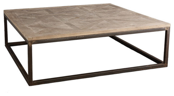 Luxury Square Parquet Top Coffee Table