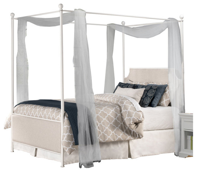 hillsdale furniture 1999bkpr mcarthur canopy bed set off white finish
