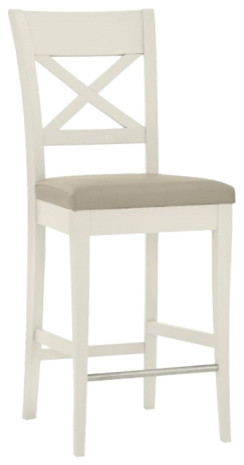Montreux Soft Grey Painted Bar Stool X Back, Antique White