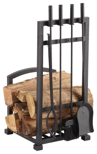 Harper Log Rack With Tools.