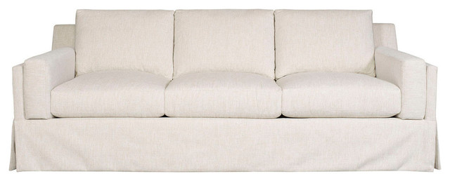Vanguard Furniture   Vanguard Furniture Neema Oyster Ambrose Waterfall Skirt  Sofa   Sofas
