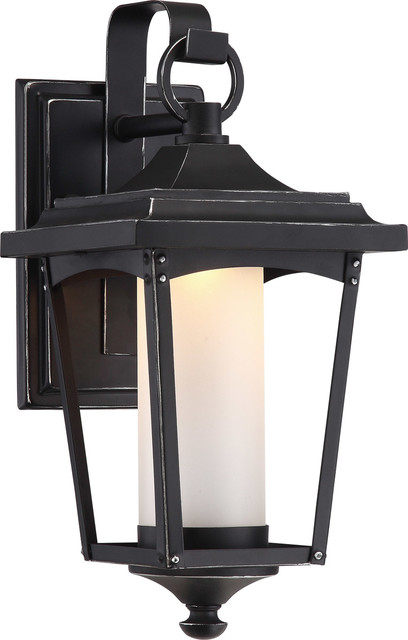 Essex 1-Light Outdoor Wall Lights, Sterling Black.