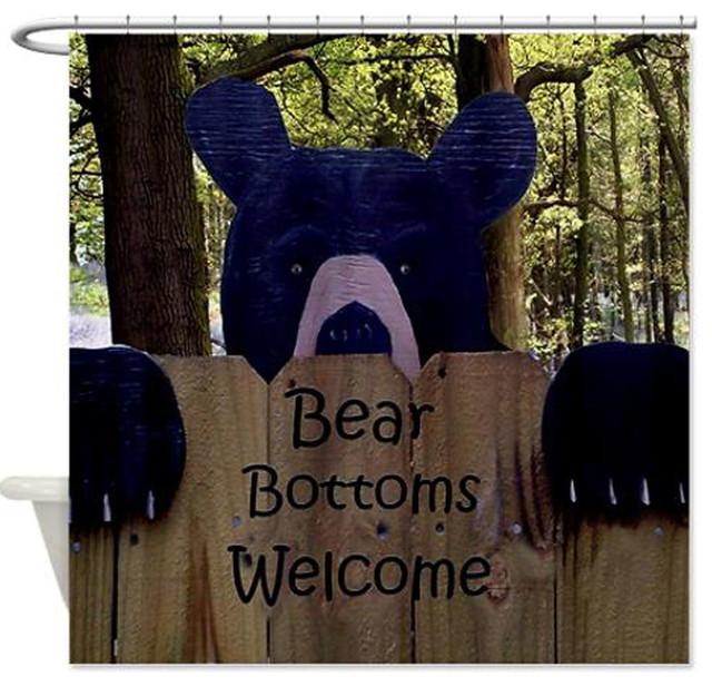 Bear Bottoms Shower Curtain
