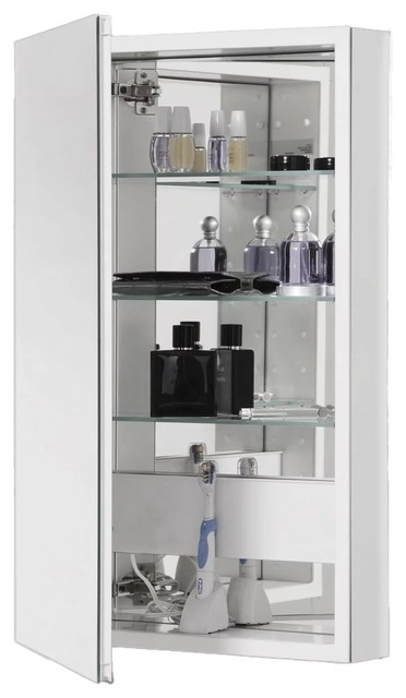 Robern Plm2040w Pl Series Single Door 19 25 X39 63 Medicine Cabinet