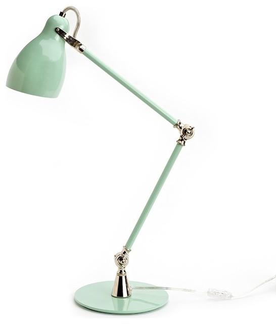 Metal Task Lamp, Seafoam Green
