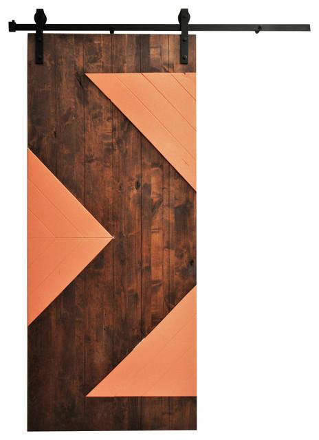 Shop houzz dogberry collections barn door wood zig zag for 48 inch barn door