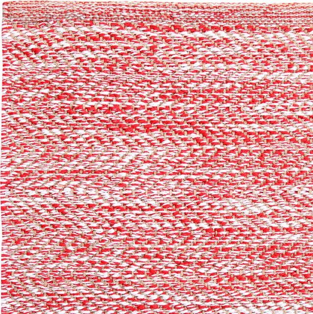 Ashton Red Modern Rug, 8&x27;x10&x27;.