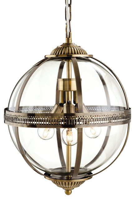 Mayfair Brass Pendant