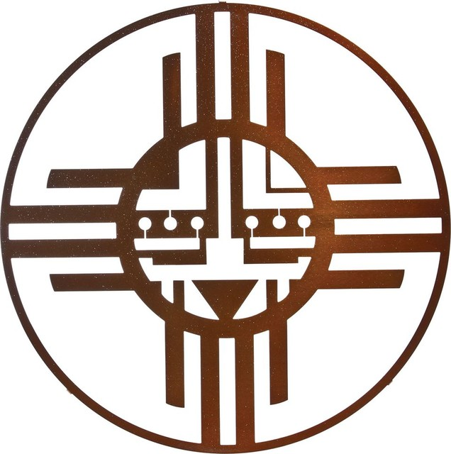 Circle Metal Wall Art native american sun circle metal wall art in sparkle copper finish