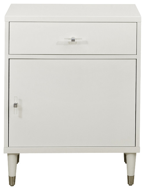 Modern White Chairside Chest