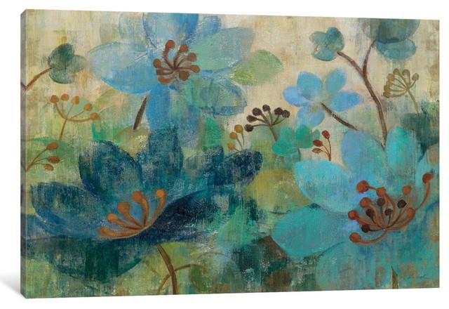 """Peacock Garden Gallery"" by Silvia Vassileva, 18x12x1.5"""