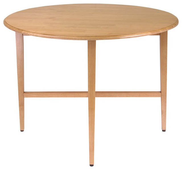 Light Oak Hannah Round  Double Drop Leaf Gate Leg Table - Light oak dining table