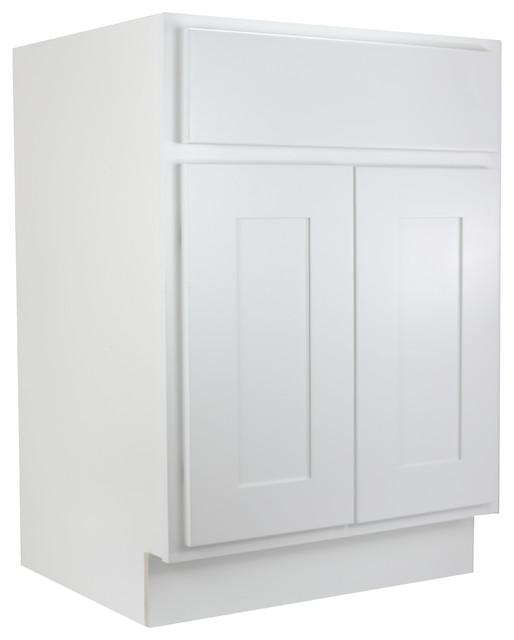 Cabinet Mania White Shaker 24 Bathroom Vanity Single Sink Rta