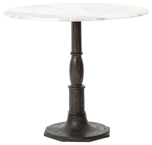Alondra Classic Cast Iron Marble Round Dining Table