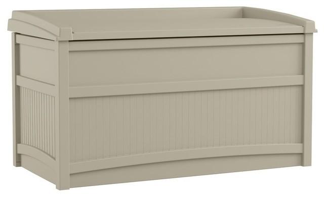 50 Gallon Resin Deck Box Contemporary Deck Boxes And