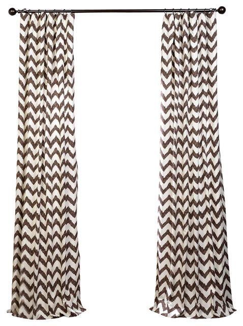 Calipso printed cotton curtain single panel for Calipso singles