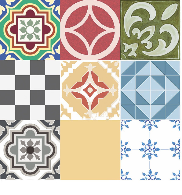 Retro Linoleum Kitchen Flooring: Julie's Floor Adorn FloorAdorn Assorted Tiles