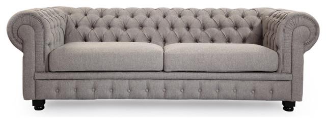Chesterfield Classic Modern Premium Fabric Sofa - Traditional ...