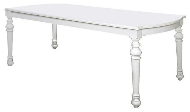 Lynn Haven Leg Table By American Drew, Dover White.