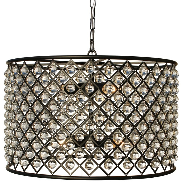 Lightupmyhome cassiel crystal drum chandelier black reviews cassiel crystal drum chandelier black contemporary pendant lighting mozeypictures Choice Image
