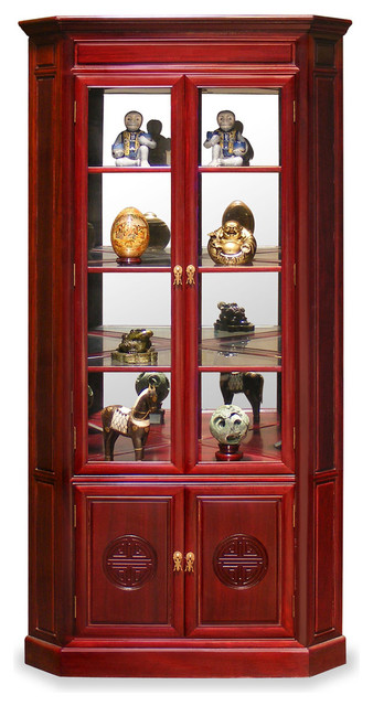 Rosewood Longevity Design Corner Cabinet - Asian - China Cabinets And Hutches - by China ...