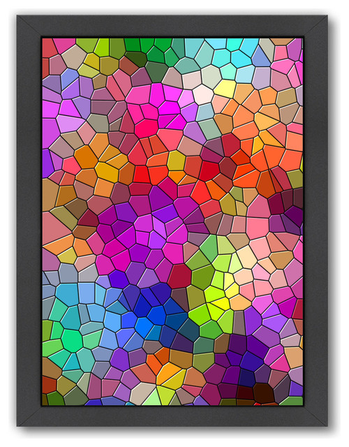 Colorful Abstract Mosaic Style 12 H X 15 W X 1 D
