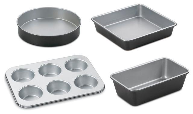 Chefs Classic Non-Stick Metal 4-Piece Bakeware Set