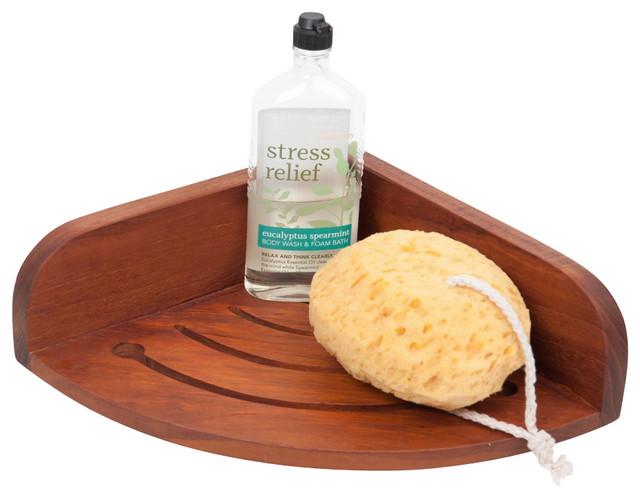 Teak Shower Shelf Contemporary Shower Caddies