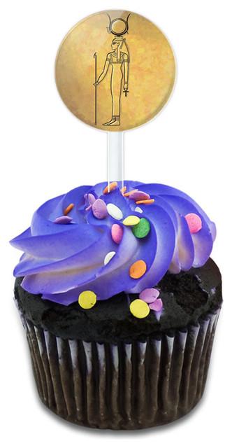 Hathor Ancient Egyptian Goddess Cupcake Toppers Picks Set.