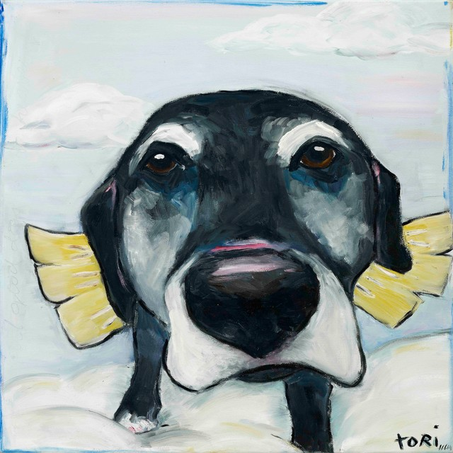 All Good Dogs Painting Print On Canvas By Tori Campisi.